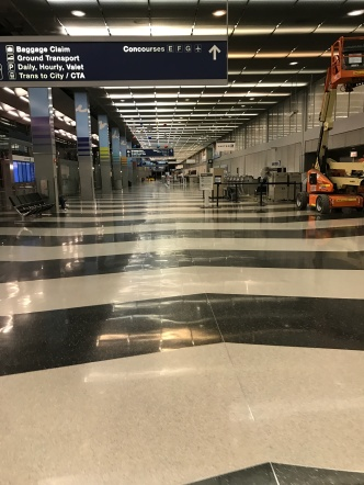 One of the busiest airports in the world, empty.